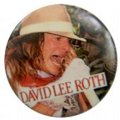David Lee Roth - 'White Hat' Button Badge